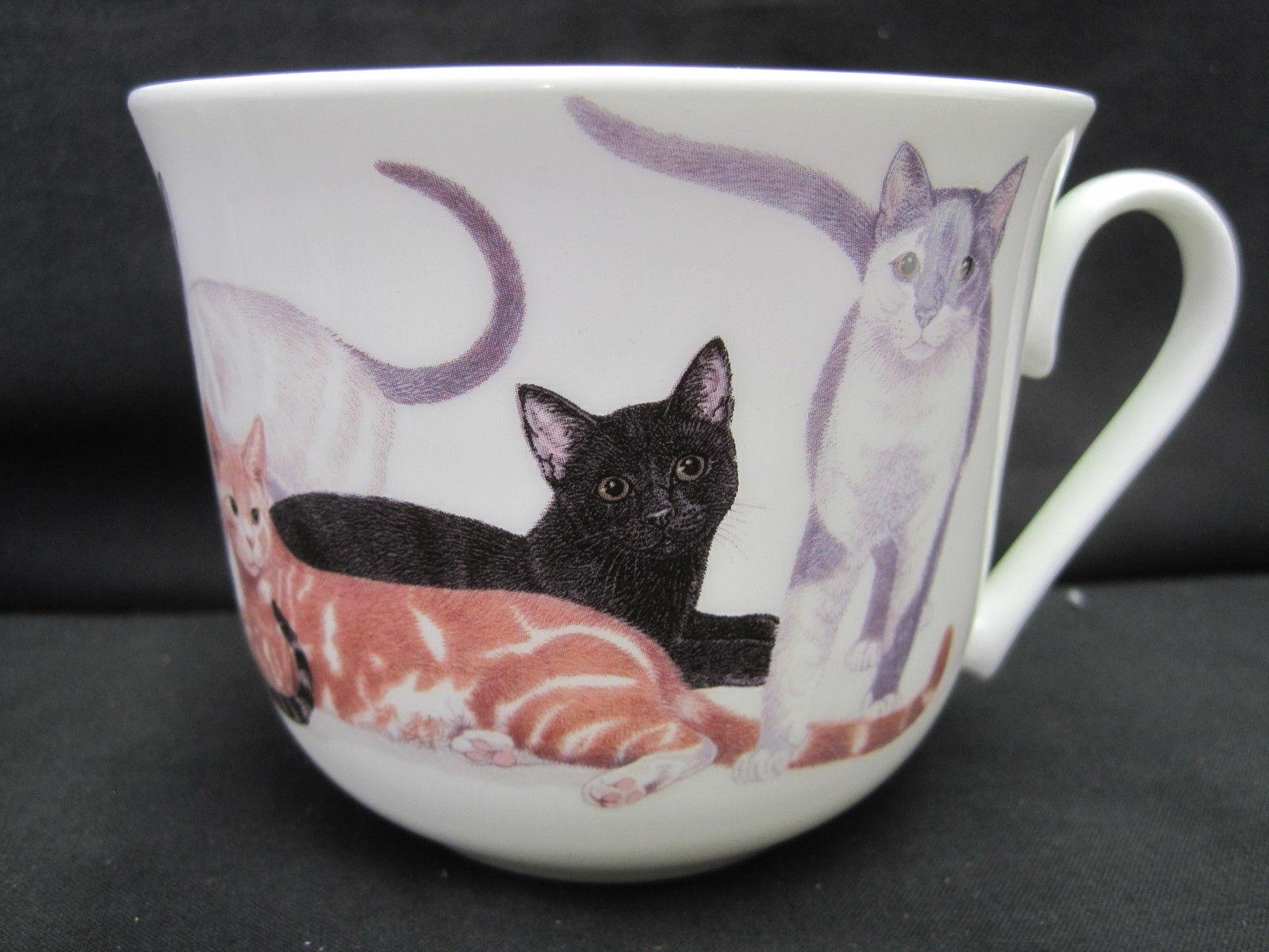 CATS CHINA CUP SAUCER, ROY MADE IN ENGLAND