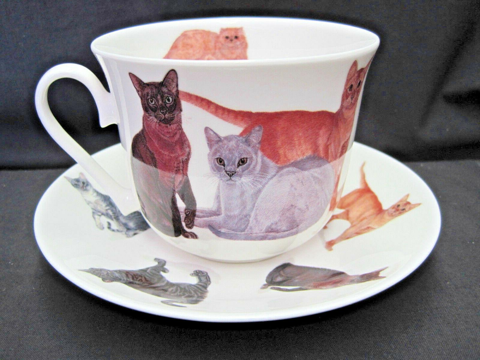 cats galore fine bone china breakfast cup