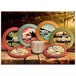 Camp Casual CC-001 12 Piece Melamine Dish Set