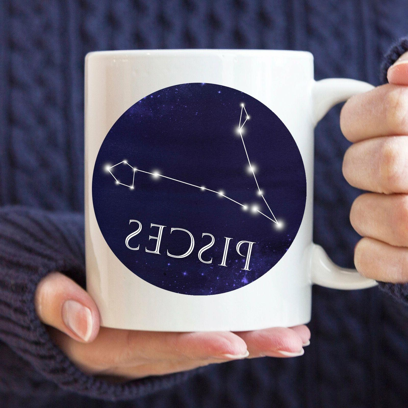 Celestial Pisces Constellation Coffee Mug Microwave And Dish