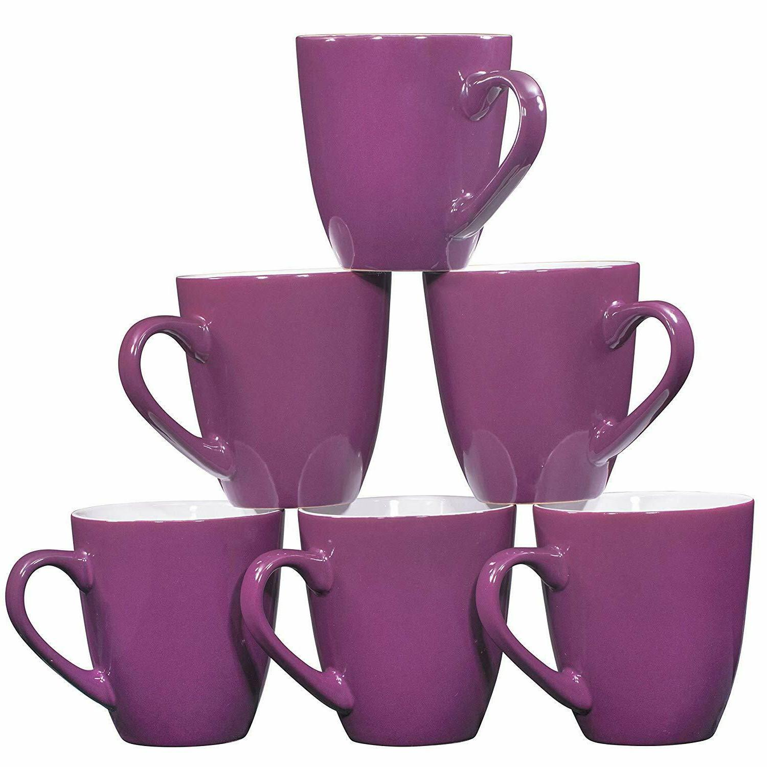 Bruntmor Mugs Set of Large Tea Coffee Mug Purple