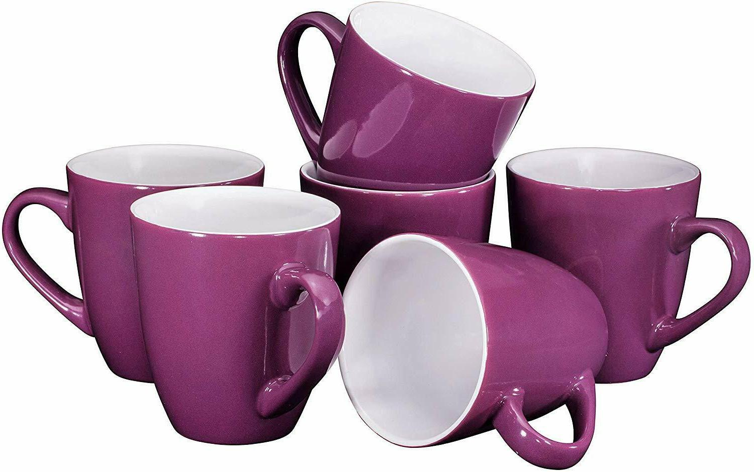 ceramic coffee cups mugs set of 6
