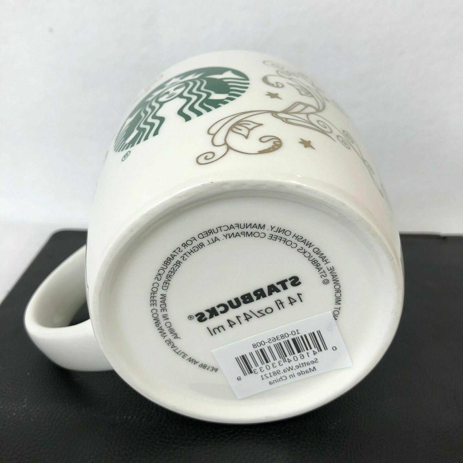 Starbucks 14 White With Filigree
