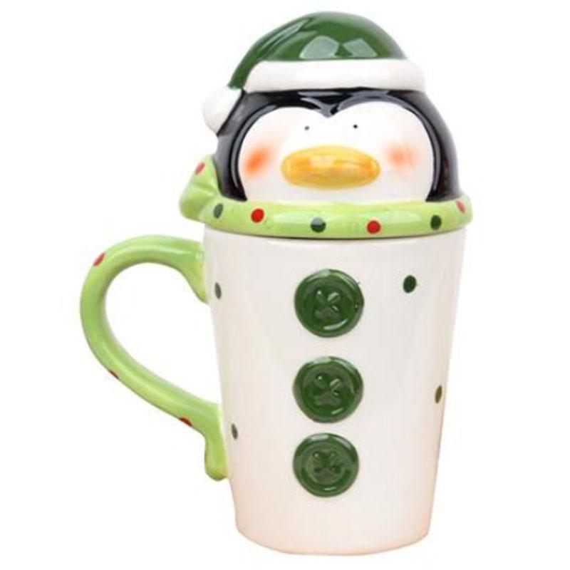 Christmas Ceramic Tea 350 Coffee <font><b>Mug</b></font> Cute Santa Elk Girls Gifts