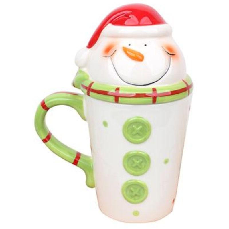Christmas Ceramic 350 Travel Coffee <font><b>Mug</b></font> Cute Tumbler Elk Gifts