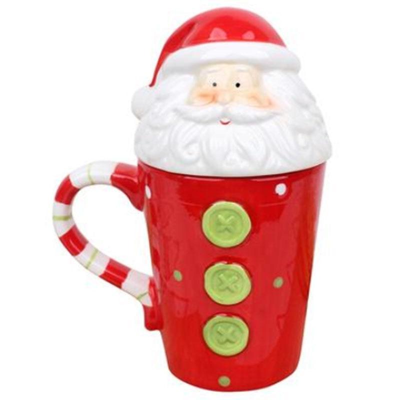 Christmas Ceramic <font><b>Mugs</b></font> 350 Coffee <font><b>Mug</b></font> Santa Elk Girls Boys Friends Gifts