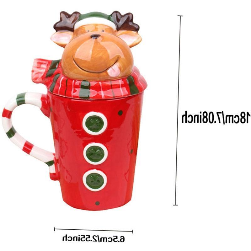 Christmas 350 Ml Coffee Elk Girls Boys Gifts