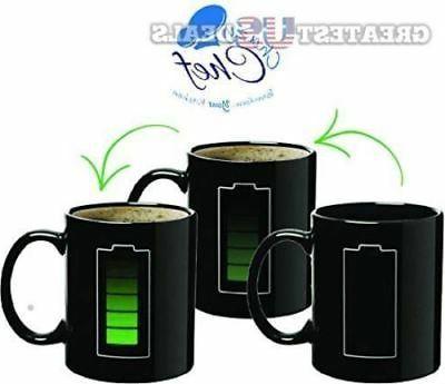 Coffee Magic Mug Color Changing Sensitive Fun Battery Charging