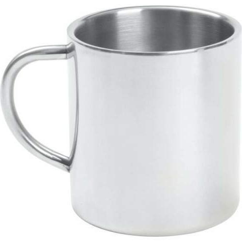 14oz COFFEE MUG Cup Stainless Steel Double Wall Tea Water Tu