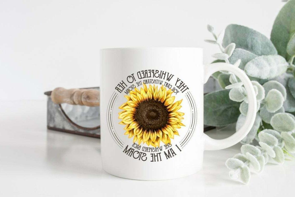 Coffee Mug I Am The Storm Sunflower Mug Empower Women Funny
