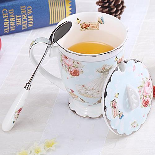 AWHOME Cup Lid Spoon Royal Fine Coffee 11oz