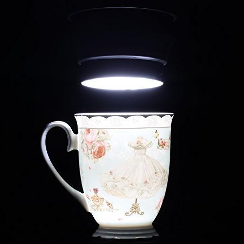 AWHOME Tea Lid Spoon Set Royal Coffee Mug Blue