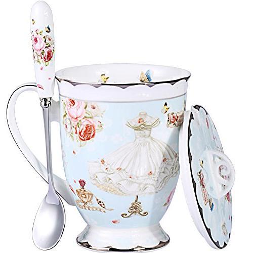 coffee mug lid spoon royal