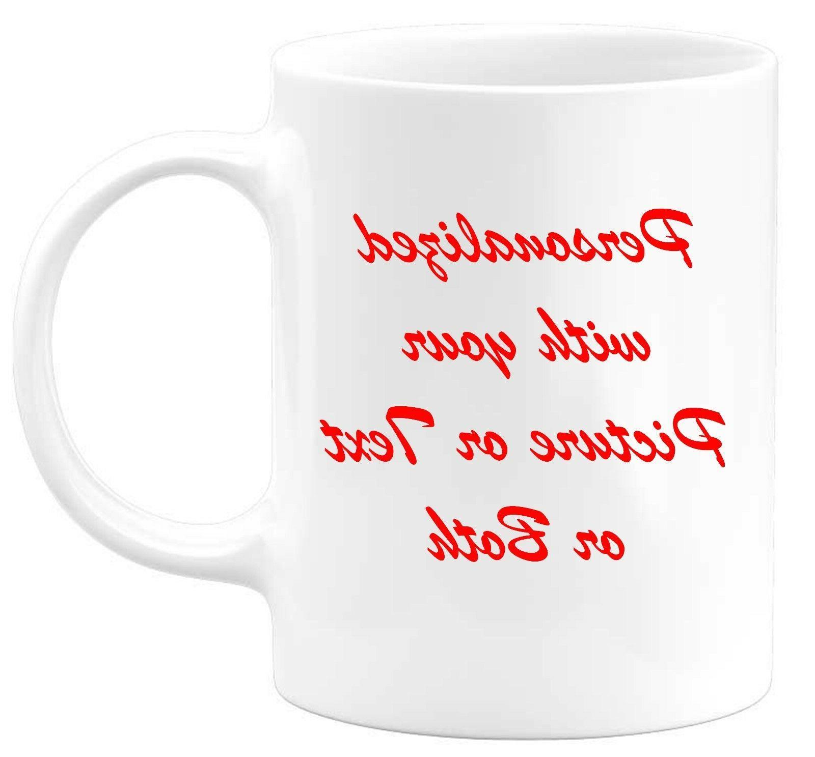 coffee mug personalized custom photo text logo