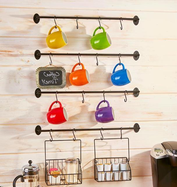 Coffee Mug Rack Cup Storage Wall Mounted