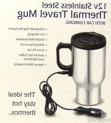 Coffee Mug Stainless Steel Thermal Travel Mug with 12v volt