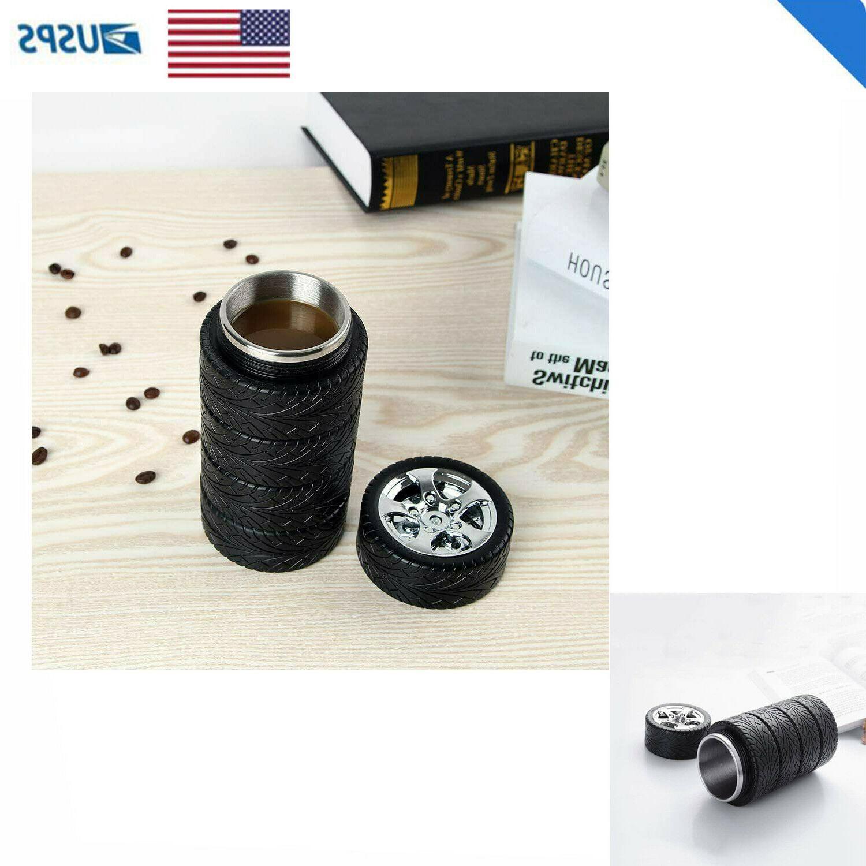 Coffee Mug Stainless Steel Tumbler, Lid & Handle Tire Durabl