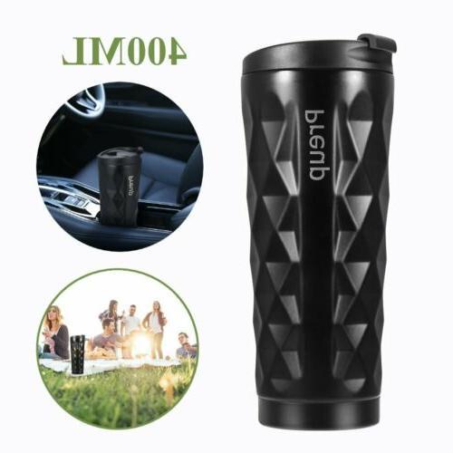 coffee travel mug stainless steel cup 400ml