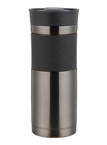 Coffee Travel Steel Tumbler Insulated oz Gunmetal .
