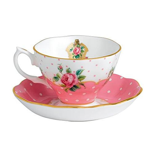 New Country Roses Vintage Teacup and Saucer , Teacup and Sau