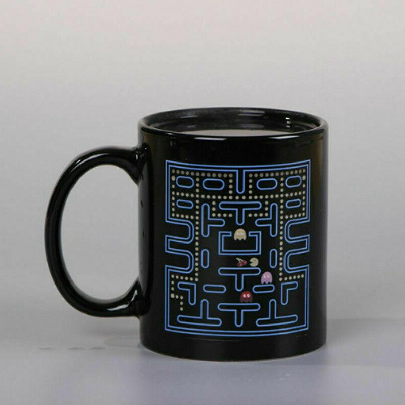 Creative Funny Pac-Man Game Heat Color Porcelain