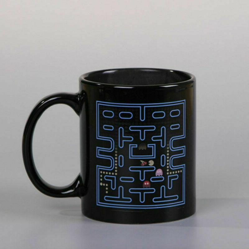 Creative Pac-Man Heat Sensitive Color Porcelain Coffee Cup