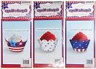 """MOMENTUM BRANDS 12pc 2"""" CUPCAKE WRAPS Patriotic 4TH OF JULY"""