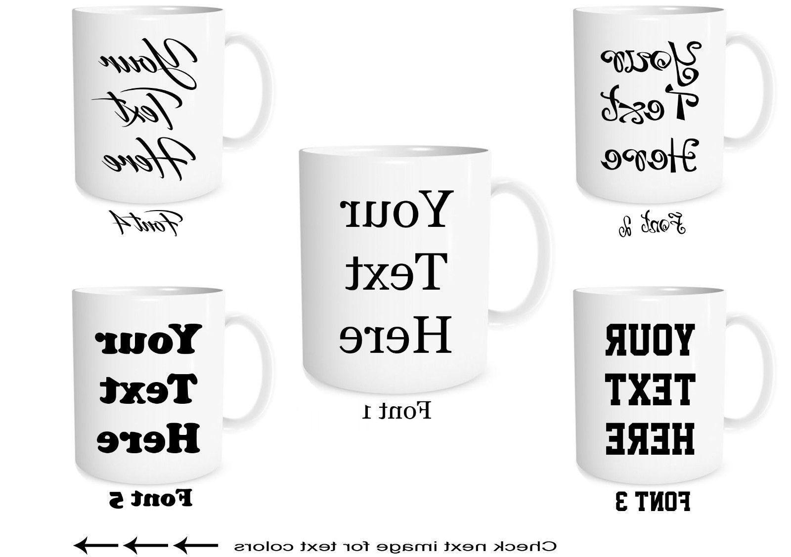 Custom Text on Mugs Personalized Ceramic Coffee Mugs Customi