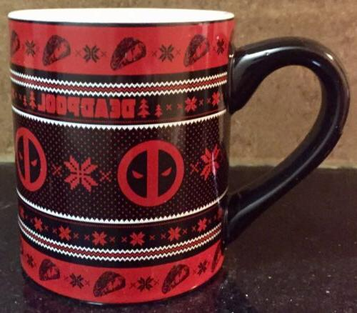 deadpool coffee mug 14oz gamestop exclusive christmas