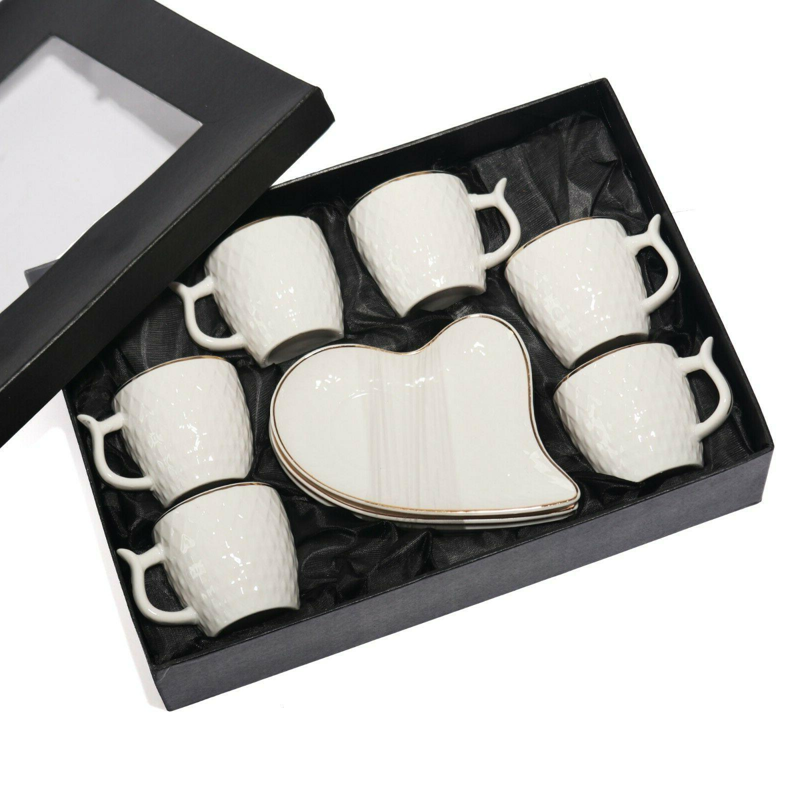 Espresso Coffee Cups Set White Porcelain Tazas Cafe Espresso