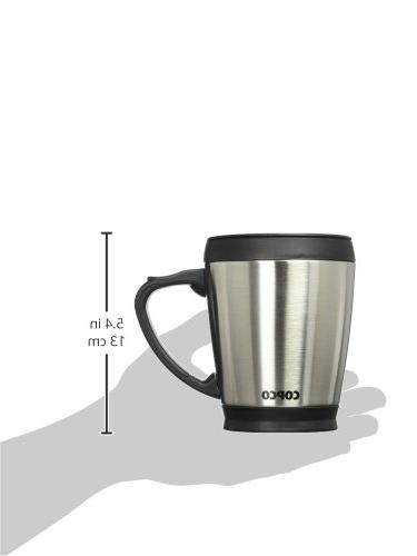 Copco 2510-7313 Double Wall Stainless Mug 16-Ounce, Silver