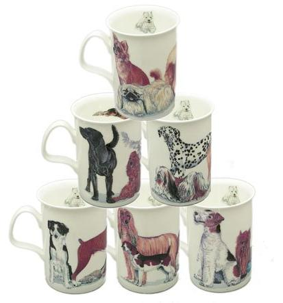 dog galore bone china mugs