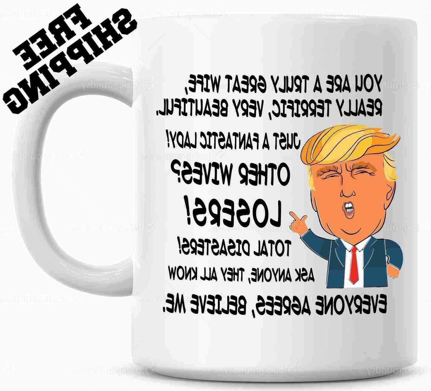 Donald Trump Gift for WIFE, Great Wife Funny Mug Christmas G