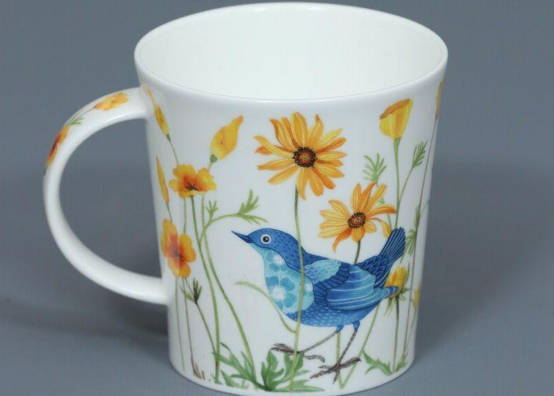 dunoon bluebirds fine bone china lomond mug