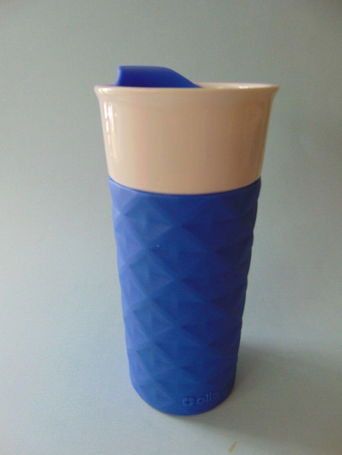 Ello On-the-Go Ceramic 16 oz. Travel Mugs Coffee Tea Color B
