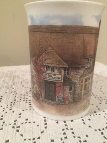 Dunoon English Bone Cup 'Country Inns' NEW