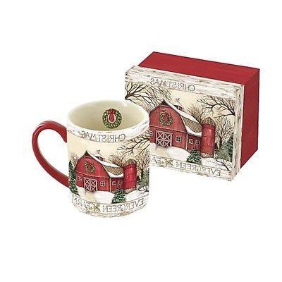 evergreen farm 14 oz mug coffee
