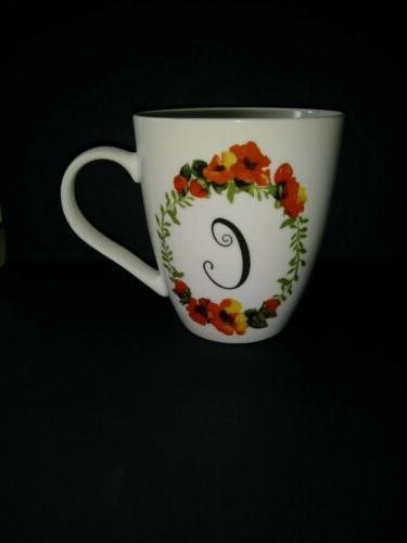 Pfaltzgraff Everyday Porcelain Coffee Cup/Mug Floral Wreath