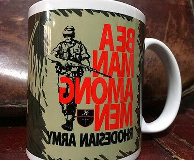 FAL Be A Man Among Men Coffee Mug Rhodesian Rhodesia Selous