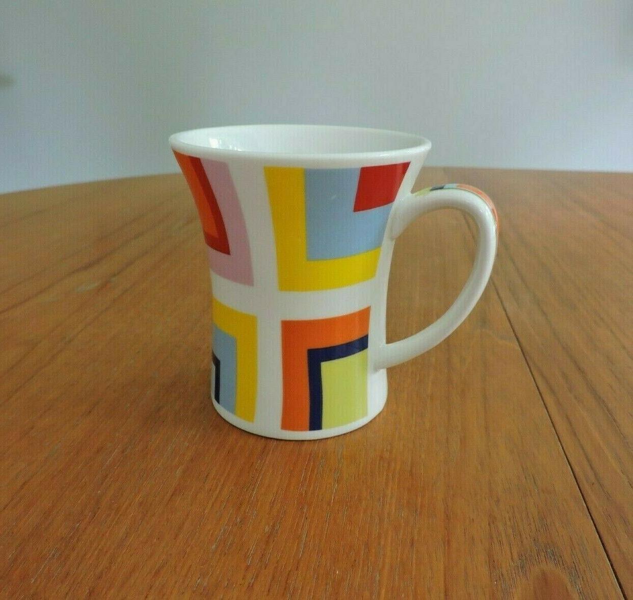 Churchill Fine Modern Blue White Coffee Mug NWOT