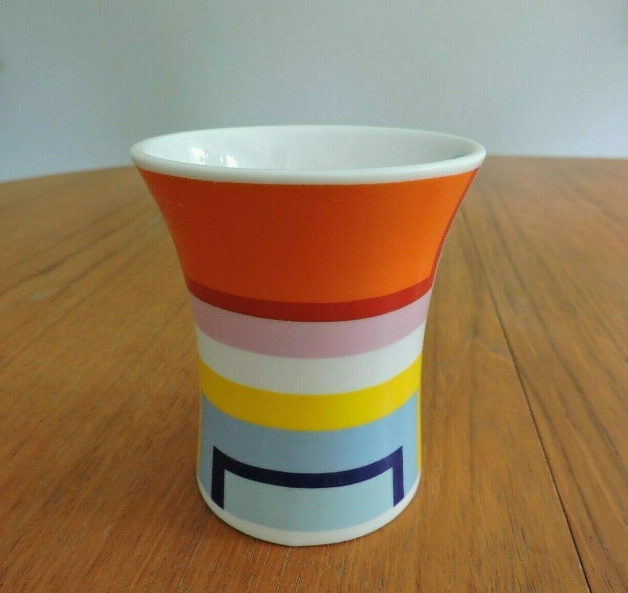 Modern Orange Blue White Coffee Cup