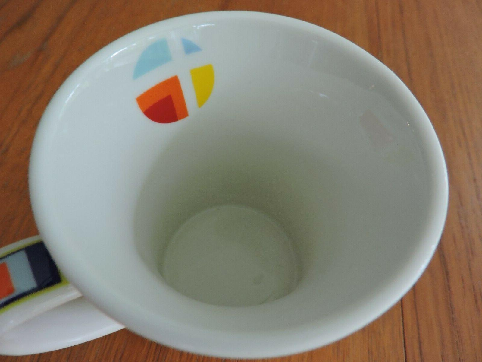 Churchill Fine China Modern Orange Coffee Mug Cup NWOT