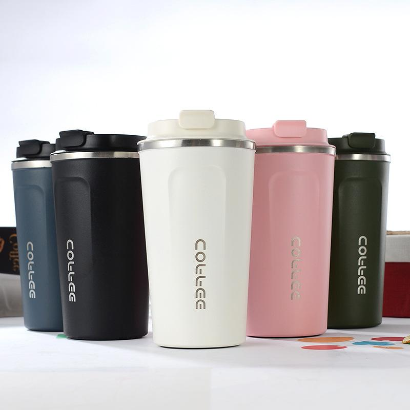 Double Stainless steel <font><b>Coffee</b></font> <font><b>Mug</b></font> Big <font><b>Thermos</b></font> Thermo Cup Gifts 510/380ML Flask