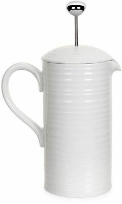French Press Coffee Tea Maker White Porcelain Brewed Brew Ov