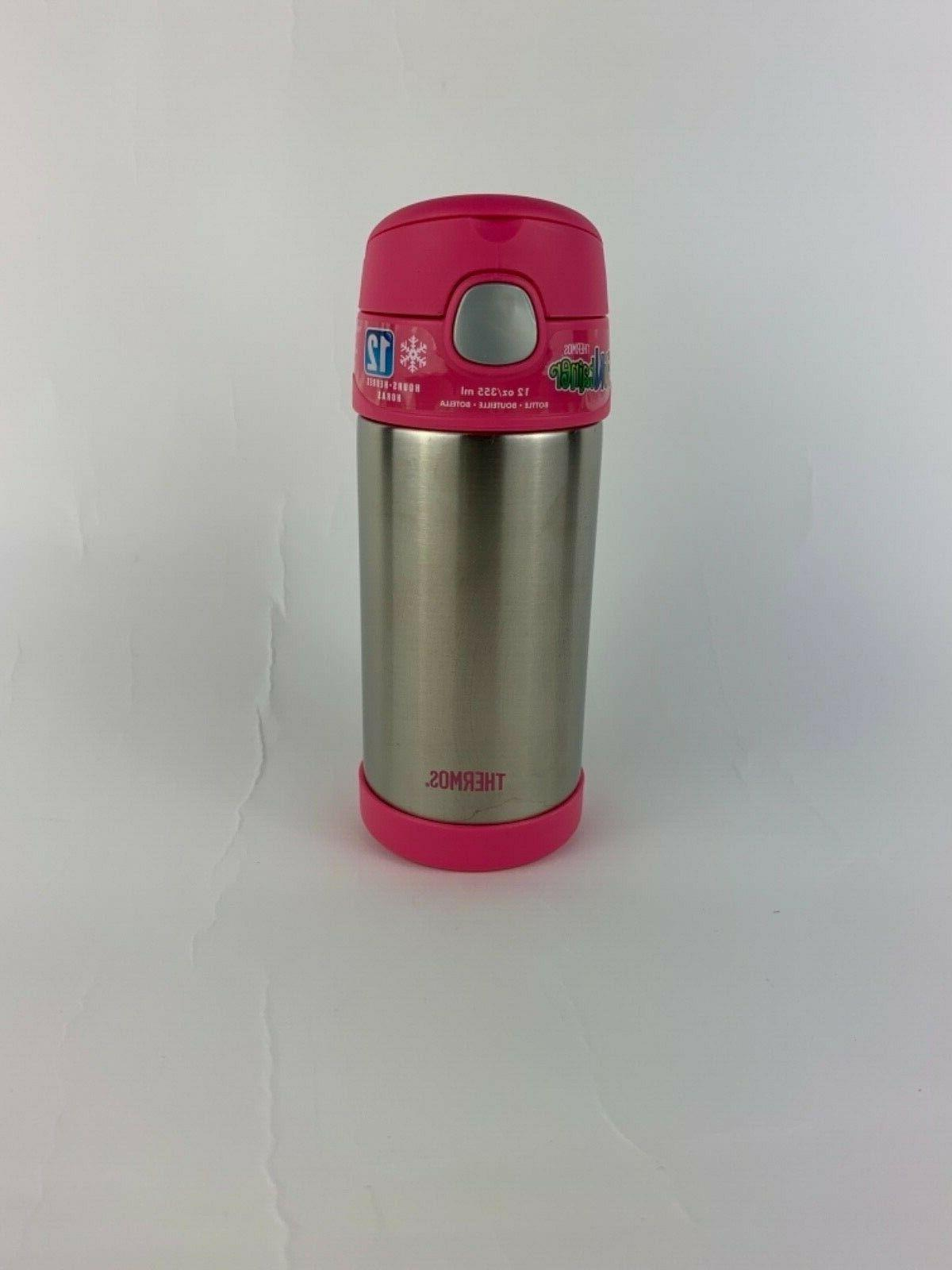 funtainer 12oz travel bottle 12 hours pink