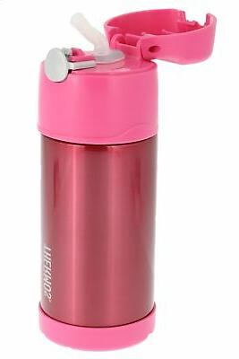 Thermos FUNtainer Vacuum Kids Straw Bottle, Pink