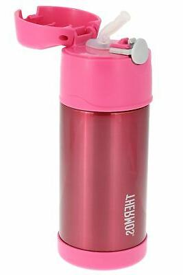 funtainer vacuum insulated kids straw bottle 12oz