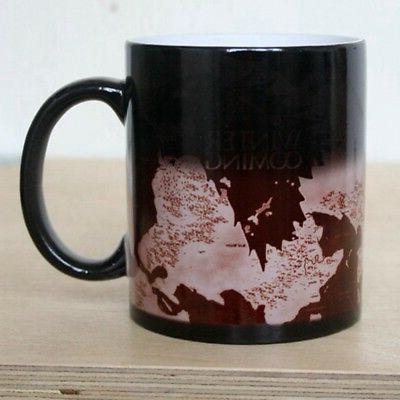 Game Map Mug Sensitive Changing Coffee Mug Ceramic Mug