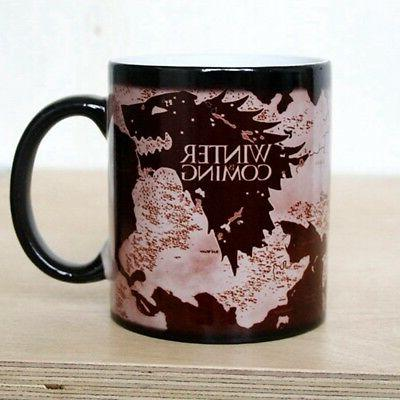 Game of Thrones Map Mug Heat Sensitive Color Changing Coffee