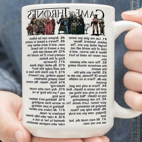 game of thrones quotes got mug white